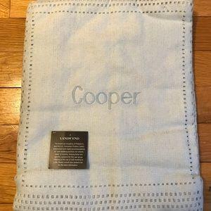 New Monogrammed Baby Blanket